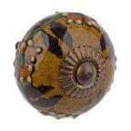 GlideRite Hand Painted Round Ceramic India Cabinet Knob ...