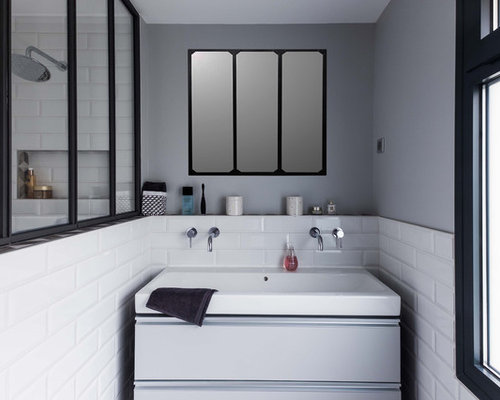 salle de bain industrielle photos et id es d co de salles de bain. Black Bedroom Furniture Sets. Home Design Ideas