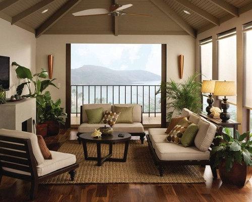 small tropical living room design ideas remodels photos houzz. Black Bedroom Furniture Sets. Home Design Ideas