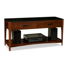 Natural wood table top view crosley furniture natural wood - Midcentury Media Storage Houzz