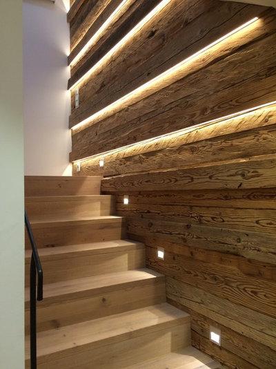 15 clairages cr atifs pour mettre en lumi re votre escalier. Black Bedroom Furniture Sets. Home Design Ideas