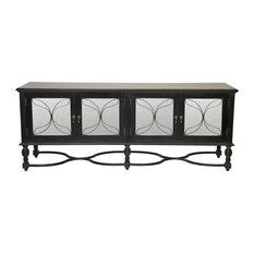 ... Global Bazaar Mirror Black Sideboard Cabinet - Buffets And Sideboards