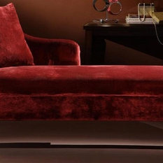 Shop upholstered chaise lounge products on houzz for Armen living patterson chenille chaise lounge