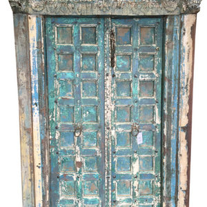 Mogul Interior - The Ancient Door Revealing the Ancient of Days Of Maharajas Of India - The door comes from India and are a 18/19 century vintage pieces.