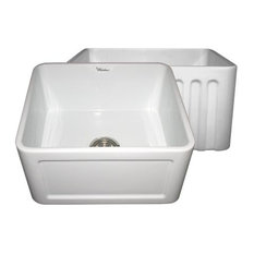 20 Inch Farmhouse Sink : WHFLCON2018 20 Inch Reversible Fireclay Farmhouse Kitchen Sink ...