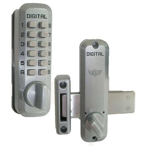 Digital Door Lock Surface Mount Deadbolt, White - Contemporary - Door ...