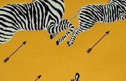 Zebras Wallpaper, Yellow