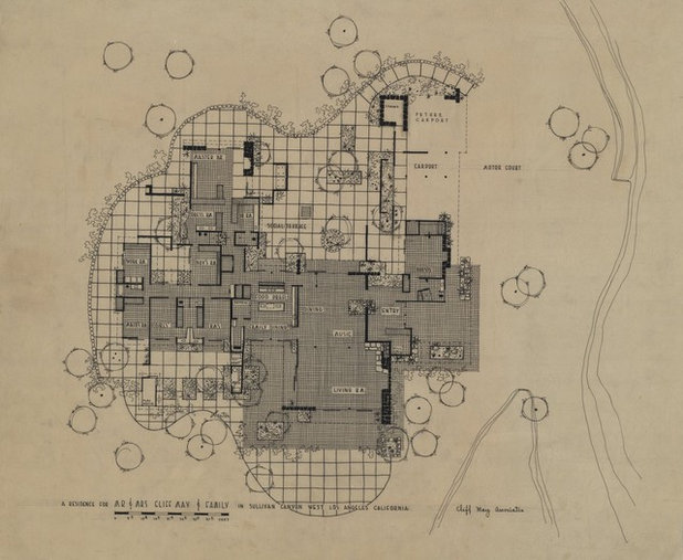 Exhibit honors cliff may 39 s california ranch style for Cliff may floor plans