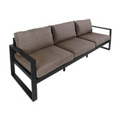 Real Flame Baltic Outdoor Sofa in Black and Gray