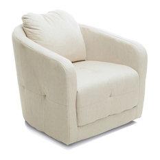 Kids children adult upholstered swivel chair pink modern accent chairs - Bernhoft Swivel Fabric Armchair Beige The Bernhoft Swivel Chair