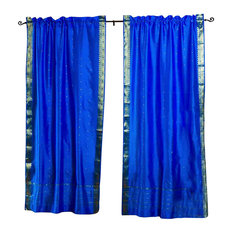 Shop Cobalt Blue Curtains Products On Houzz