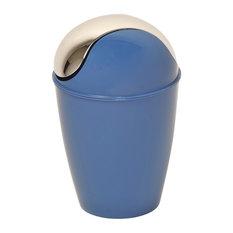30 gallon waste bin wastebaskets houzz for Navy bathroom bin