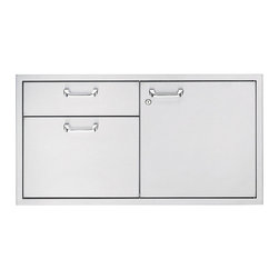 """Frontgate - Lynx 42"""" Storage Door and Double Drawer - The Lynx 42-inch Storage Door and Double ..."""