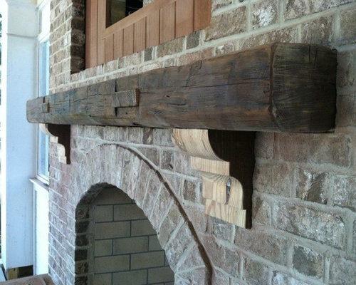 Reclaimed Wood Mantel Home Design Ideas Pictures Remodel