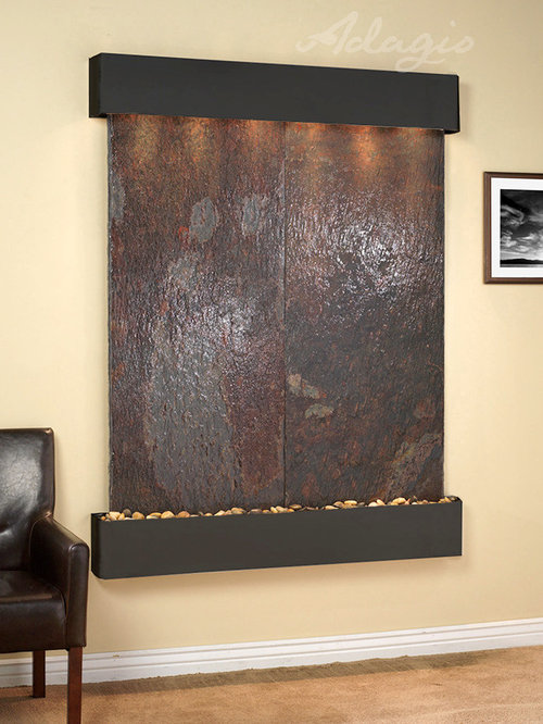 slate wall mounted water features. Black Bedroom Furniture Sets. Home Design Ideas