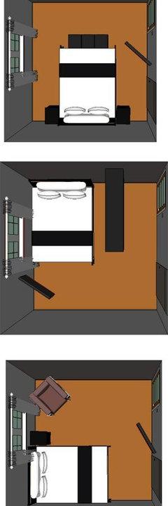 Small Bedroom Layout. 11x12. 1 Window, 1 Entrance Door, 1