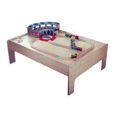 Sodura Birch Wood Modern Kids Train Table This Modern