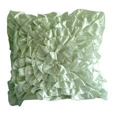 Green Ruffle Throw Pillow : Shop Ruffle Throw Pillow Products on Houzz