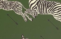 Zebras Wallpaper, Serengeti Green