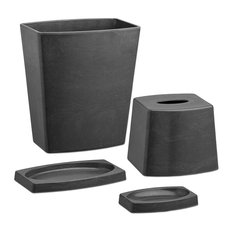my earth 4 piece bathroom set charcoal bathroom accessory sets