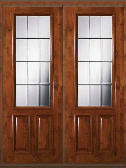 2 3 lite french doors for Double hung french patio doors