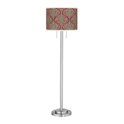 giclee glow orleans red giclee brushed nickel garth. Black Bedroom Furniture Sets. Home Design Ideas