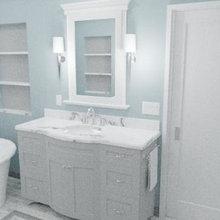 Piedmont Transitional Master Bath