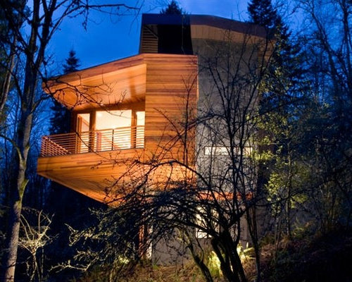 Hoke House Home Design Ideas  Pictures  Remodel and DecorMini st home design photo in Seattle