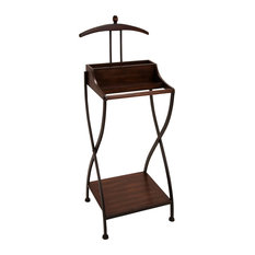 ecWorld - Urban Designs Wood And Metal Clothes Butler Valet Stand - This functional valet is designed to keep your clothes well organized, wrinkle-free, and ready to wear. Your suit and its trousers have a perfect hanging place and double accessory trays for wallets, spare change, belts, watches and jewelry. Assembly required.