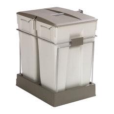 Poubelles et produits de recyclage contemporains for Poubelle zinc alinea