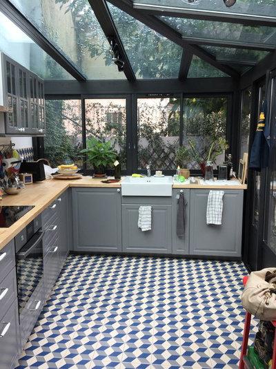 V randa de la semaine une cuisine ouverte sur l for Cuisine veranda photos