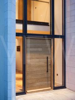 Modern wood slat door for Modern house door design