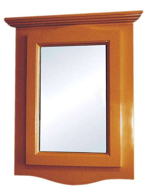 Finish Hardwood Corner, 14338 - Corner Medicine Cabinet with Mirror ...