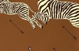 Zebras Wallpaper, Safari Brown