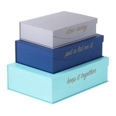 Hom Essence Magnetic Lid Storage Boxes Put A Lid On It Set Of