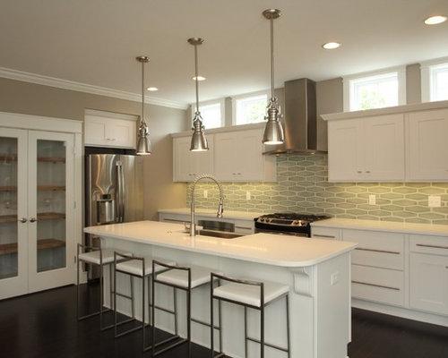 Hexagon Tile Backsplash Home Design Ideas Pictures