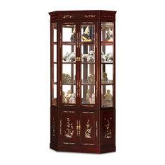 ... Furniture and Arts - Rosewood Pearl Inlaid Corner Cabinet - Furniture
