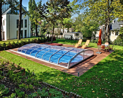 Calgary Model Retractable Swimming Pool Cover By Abri Design Cover