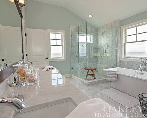 Beach style chicago bath design ideas pictures remodel for Bath remodel gurnee