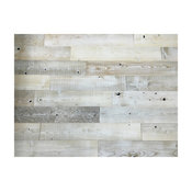 """5"""" White Wash Timberchic Wall Covering, 20 sqft."""