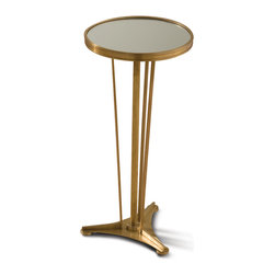 Home Monaco French Art Deco Regency End Table A Slim Side Table