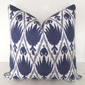 Decorative Designer Ikat Pillow Cover By Loubella1