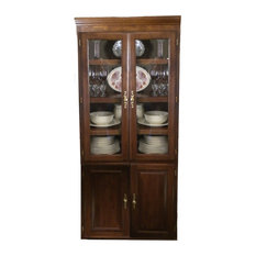Forest Designs - Traditional Bookcase Glass Doors, Auburn Alder - See ...