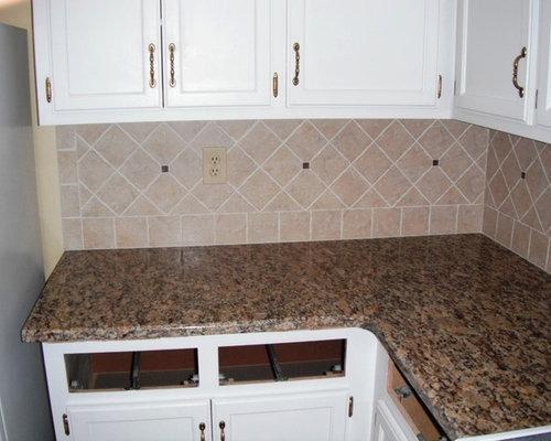 Santa Cecilia Granite for White Kitchen Cabinets