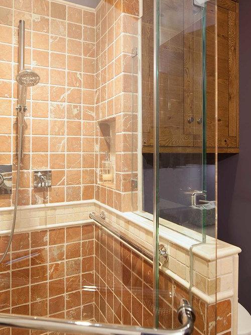 Bathroom Design Ideas Renovations Photos With Orange Tiles