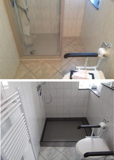 dusche im keller abfluss badsanierung bad selbst. Black Bedroom Furniture Sets. Home Design Ideas