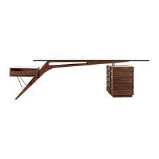 Monterrey industrial loft iron reclaimed wood adjustable dining table - Nyekoncept Koen Desk Walnut Wood The Koen Desk Is One Of The Few