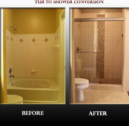 Tub to shower conversion home design ideas pictures remodel and decor Bathroom remodel ideas with stand up shower