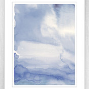 Dreamy Blue Watercolour Print
