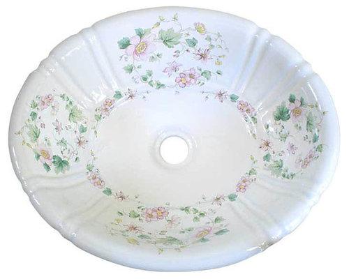 Hand Painted Sinks - Floral Designs - Bathroom Fixtures
